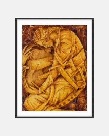 Julio-Susana_2000_Protecion_Framed-Print_Black